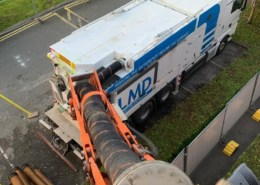 Vacuum Excavation being used on an hospital roof